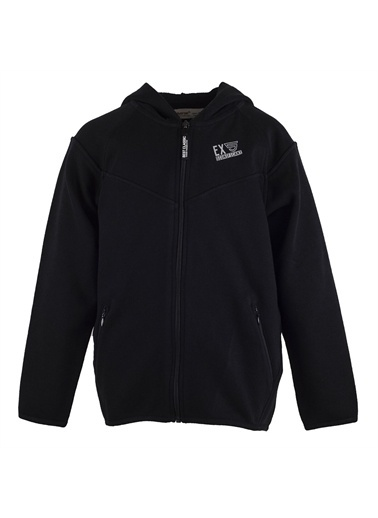 Silversun Kids Kapşonlu Önden Fermuar Kapamalı Cepli Uzun Kol Erkek Çocuk Sweatshirt Jm 314817 Siyah